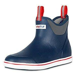 Xtratuf Men's Full Rubber Ankle Deck Boots - Navy/Red, 11 US