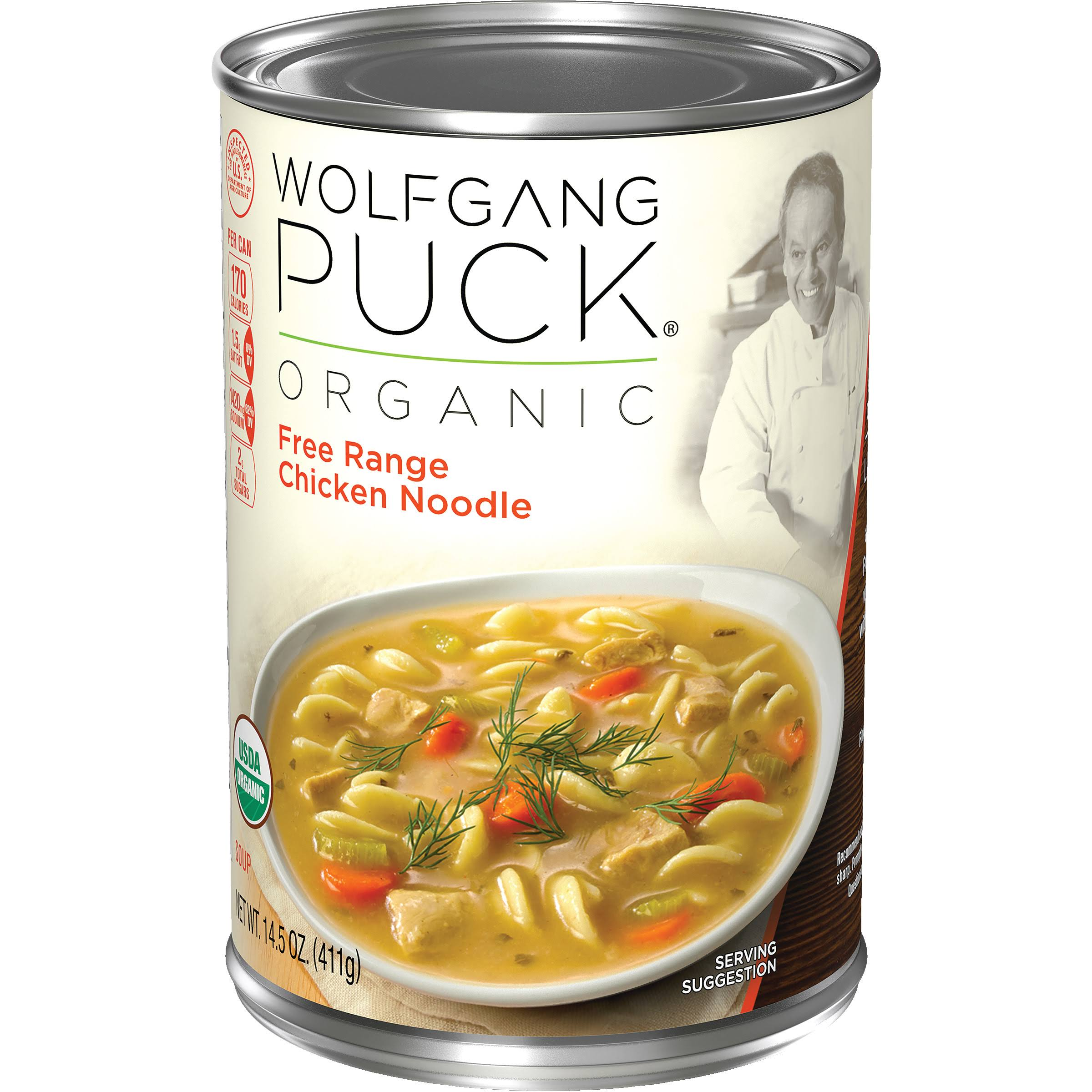 Wolfgang Puck 21308 Organic Soup - Chicken With Egg Noodles, 14.5oz