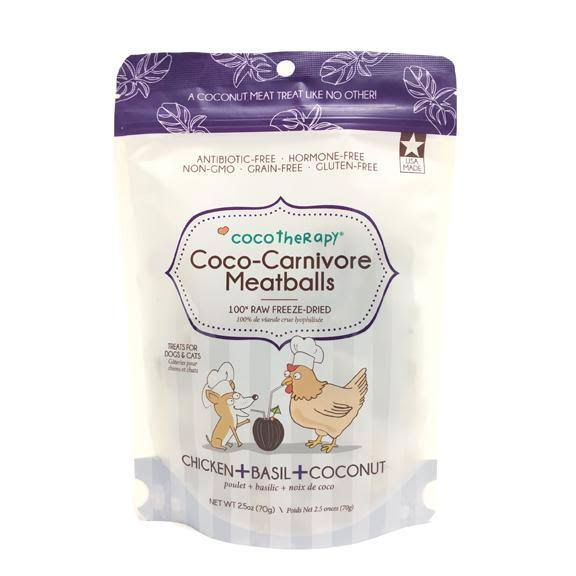CocoTherapy Coco-Carnivore Meatballs (Chicken) Dog Treats