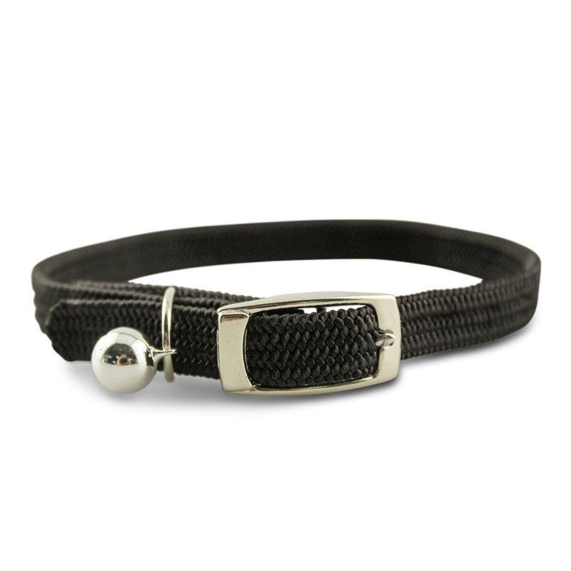Leather Brothers Kool Kat Collar with Bell 10in Black