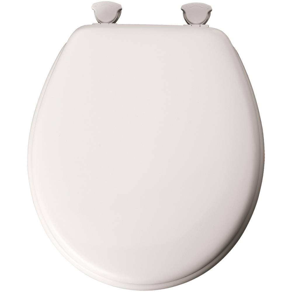 Mayfair Round Toilet Seat - Enamel White