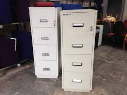 Fire Safe File Cabinet by Chubb 4 Drawer Fire Proof Safe Filing Cabinet With Keys 450 Each