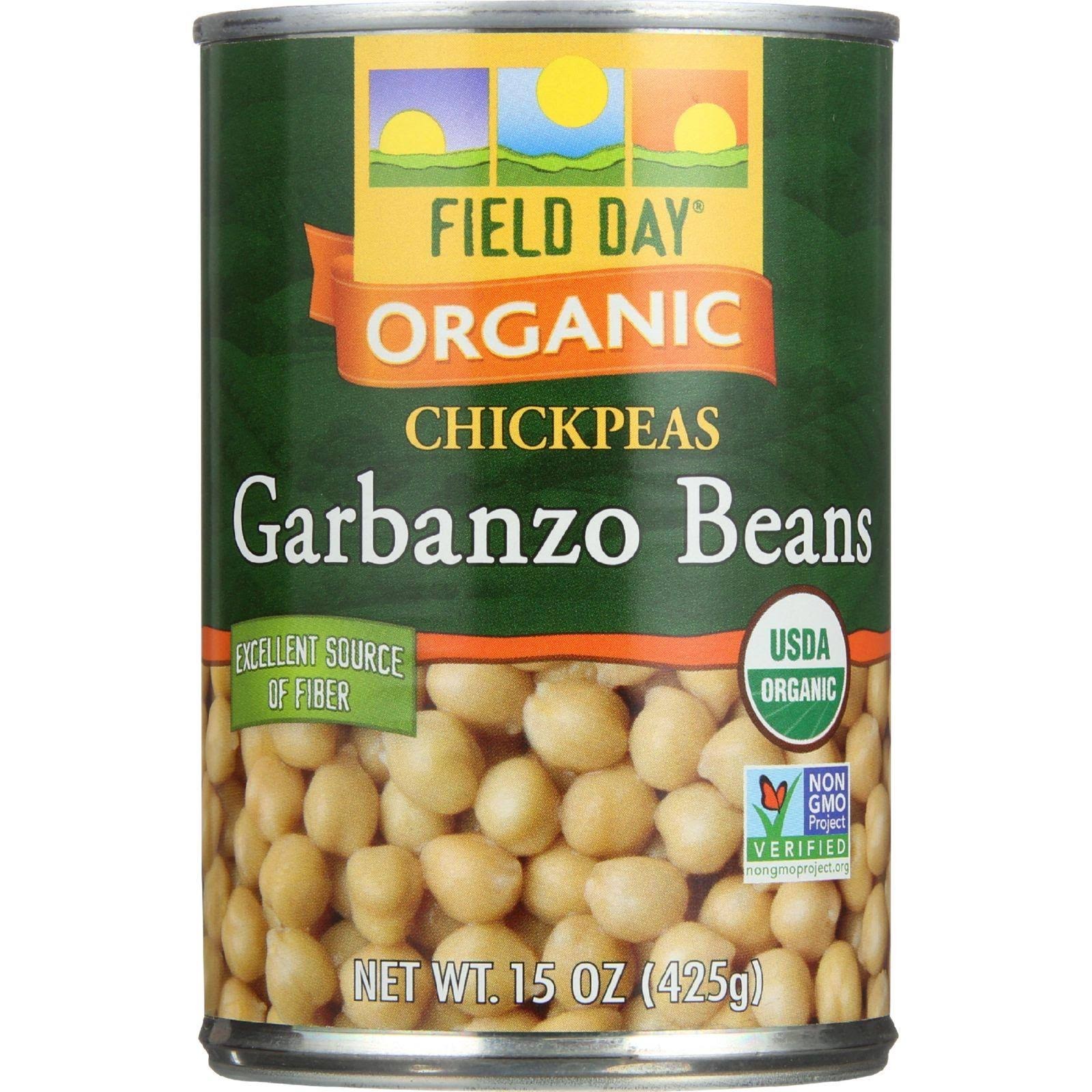 Field Day Organic Garbanzo Beans - 15 oz can
