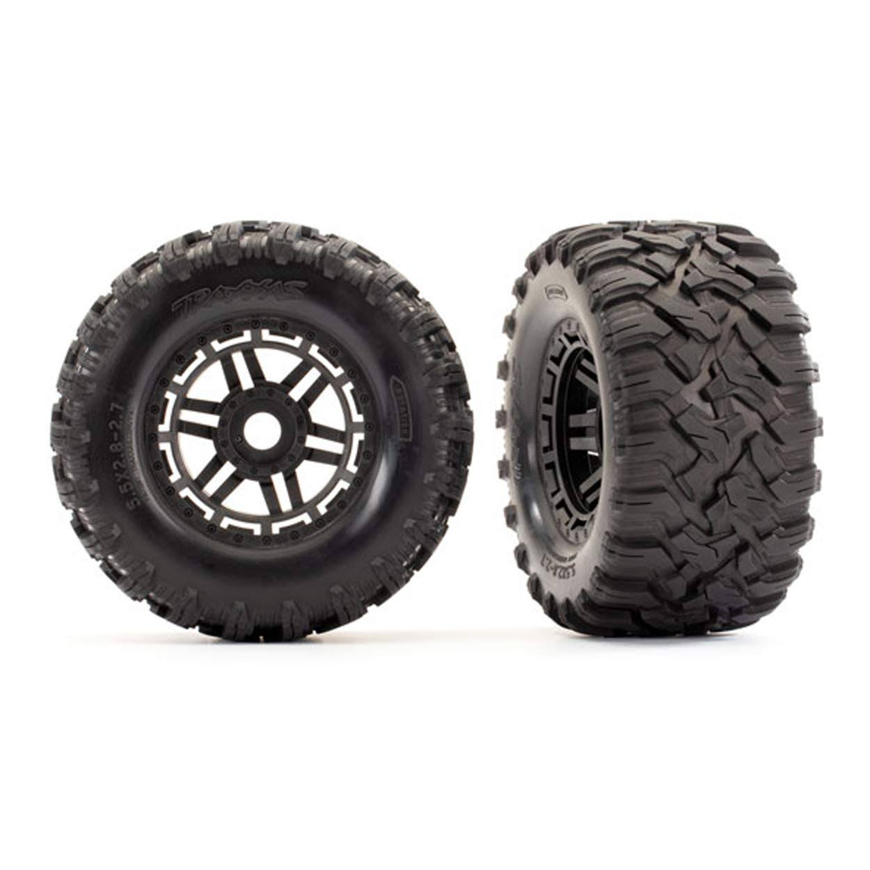 Traxxas 8972 Tires & Wheels/Black Wheels, Maxx All-Terrain Tires, Foams (2) 17mm