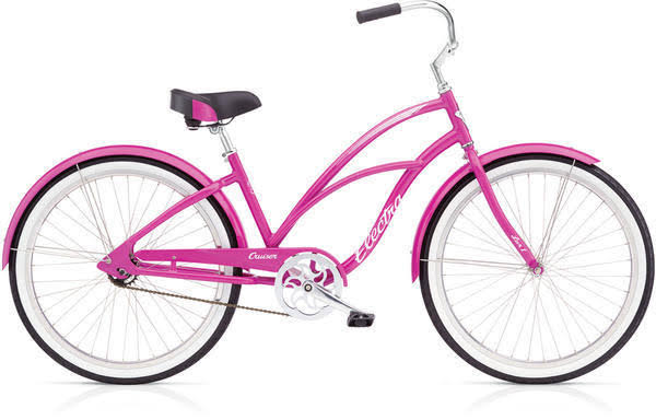 Electra Cruiser Lux 1 Step Thru Bicycle - Pink Sparkle
