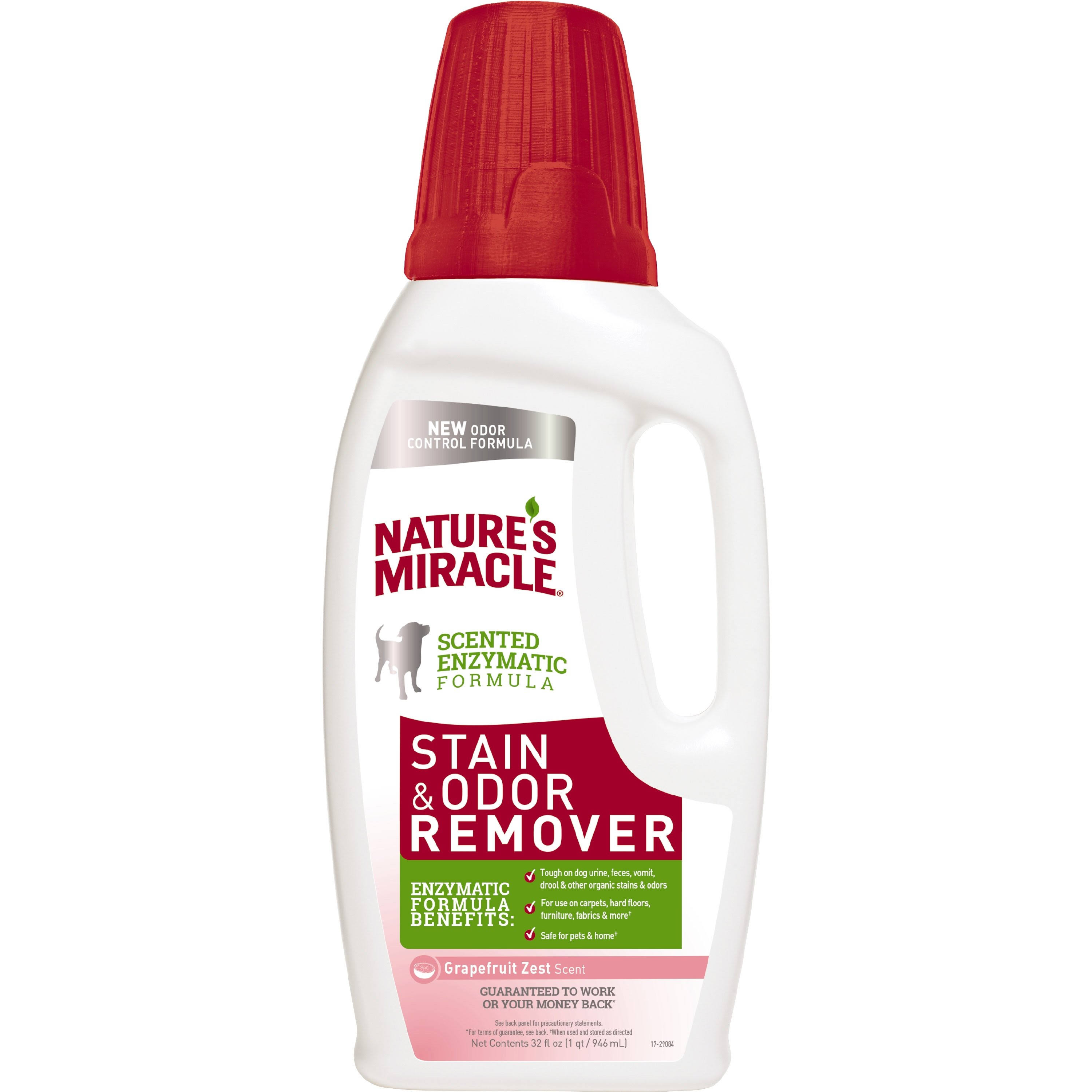 Nature's Miracle Stain and Odor Remover - Grapefruit Zest, 32oz