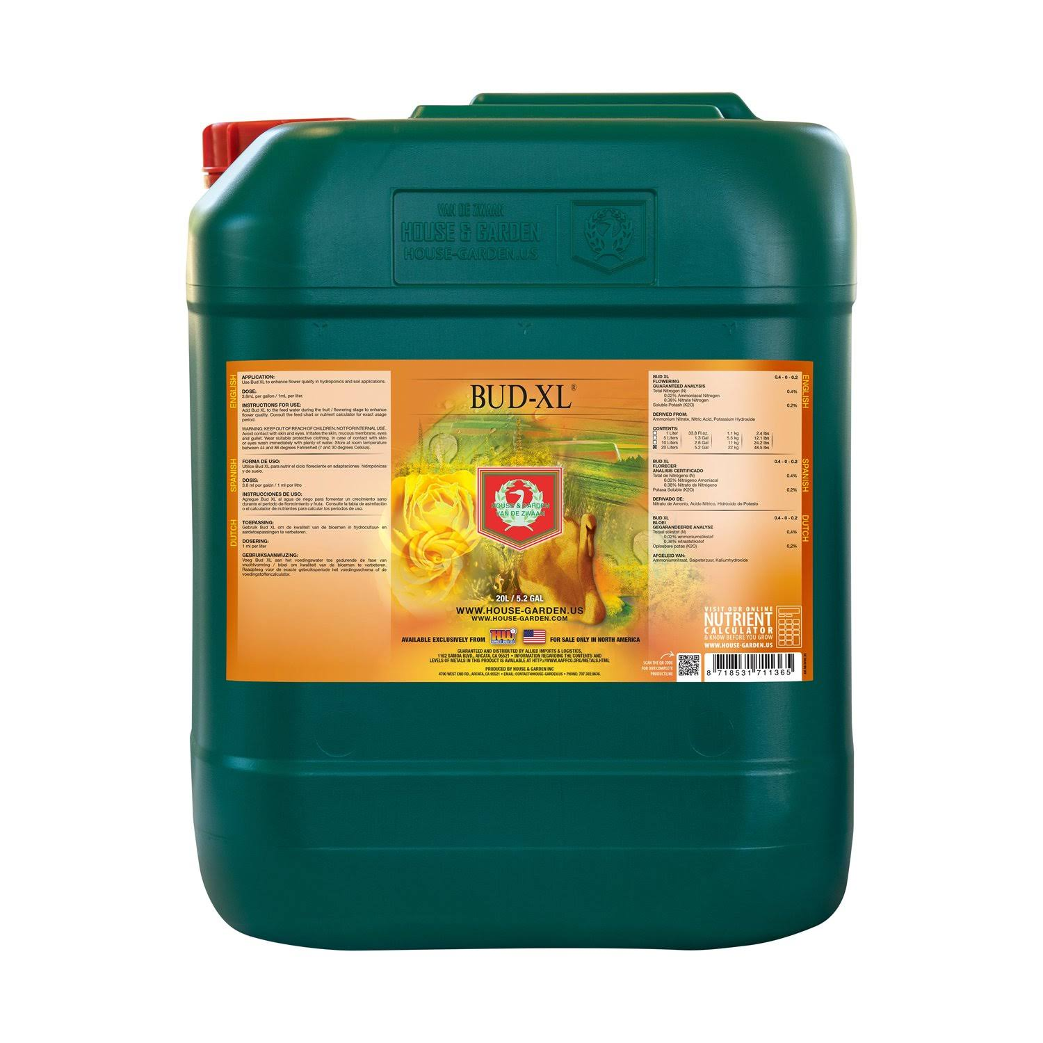 House and Garden Bud XL - 20 Liter