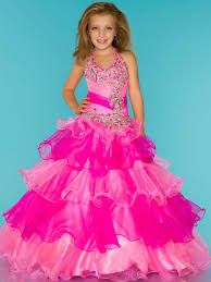 fashion girl kids pageant bridesmaid dance party princess ball