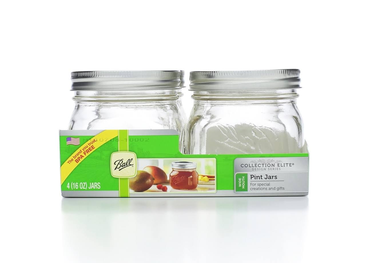Ball Elite Mason Jar - 4 Jars
