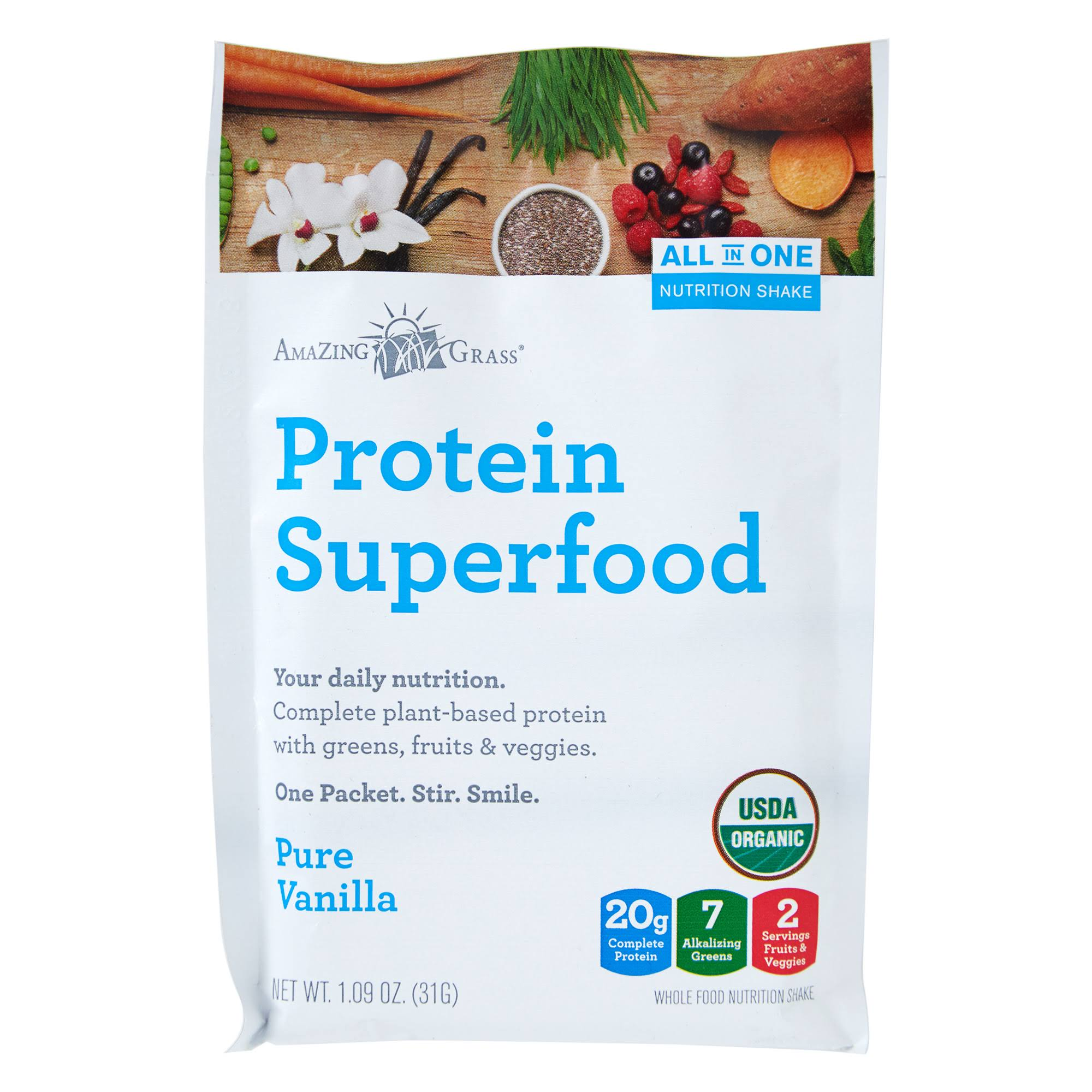 Amazing Grass Protein Superfood, Pure Vanilla - 1.09 oz