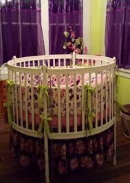 Bratt Decor Crib Skirt by Custom Round Crib Bedding In Pink And Purple Made To Order By