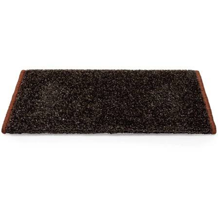 Camco 42917 Premium Wrap Around RV Step Rug, Turf Material (17.5 inch x 18 inch), Brown