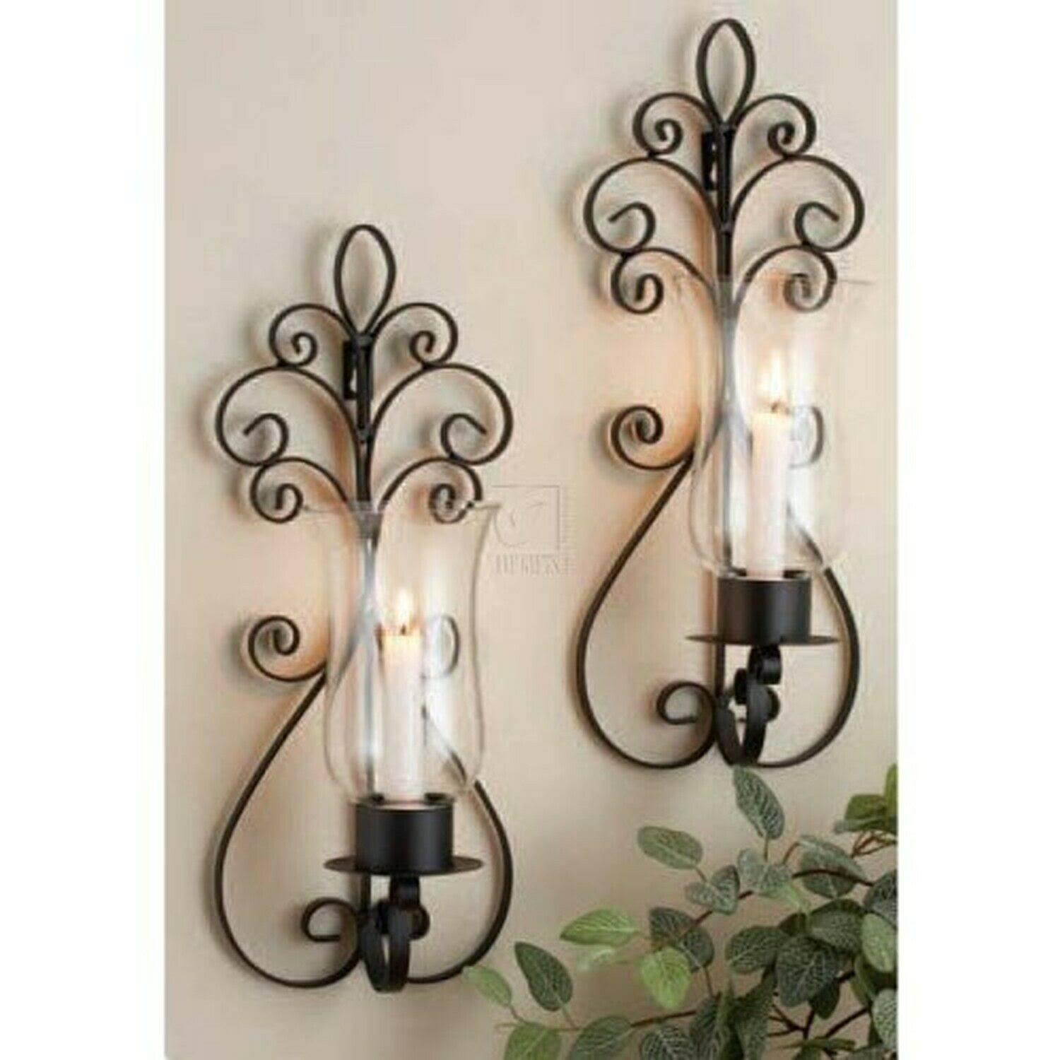 Home Essentials Candle Holder Sconces - Set of 2, 17""