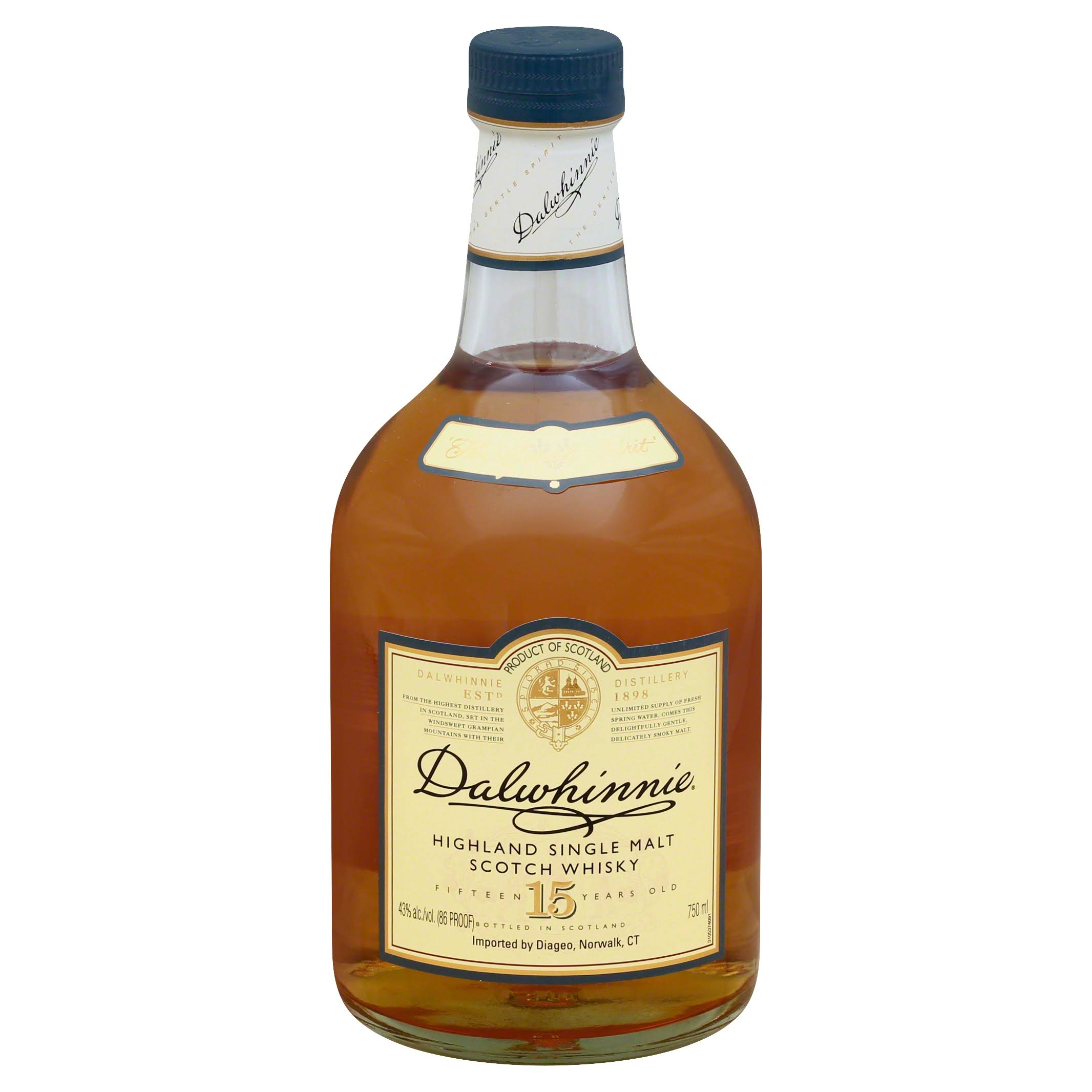 Dalwhinnie Distillery Scotch Whiskey - Single Malt, 15 Years, 750ml