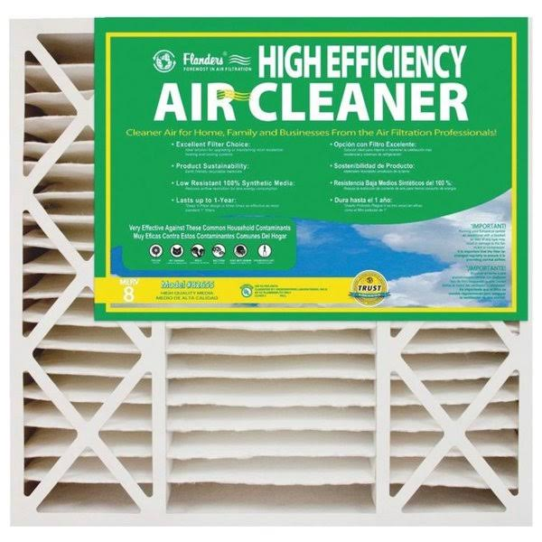 "Flanders High Efficiency Deep Pleat Furnace Filter - 20""x20""x4"""