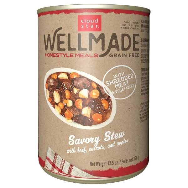 Wellmade Grain-Free Homestyle Meals Savory Stew with Beef 12.5 oz