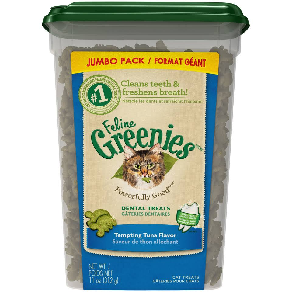 Feline Greenies Dental Tuna Jumbo Tub