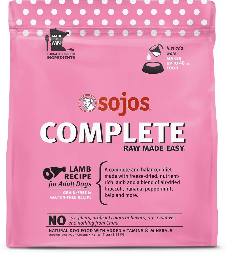 Sojos Complete Lamb Dog Food 7 lb