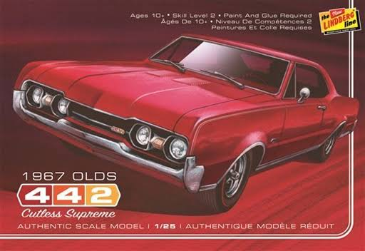 Lindberg HL127/12 1/25 1967 Oldsmobile 442 Car Plastic Model Kit