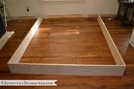 diy stained wood raised platform bed frame u2013 part 1