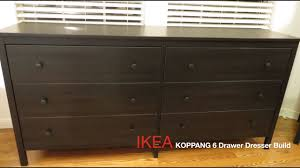 Hemnes 6 Drawer Dresser Grey Brown by Ikea Koppang Dark Brown 6 Drawer Dresser Assembly Youtube