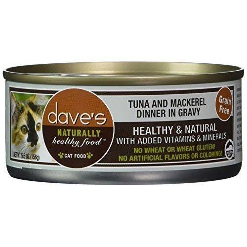 Dave's Cat Food - Tuna and Mackerel Dinner In Gravy