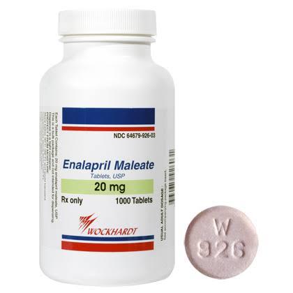 Wockhardt Enalapril Maleate - 20mg, 100 Tablets