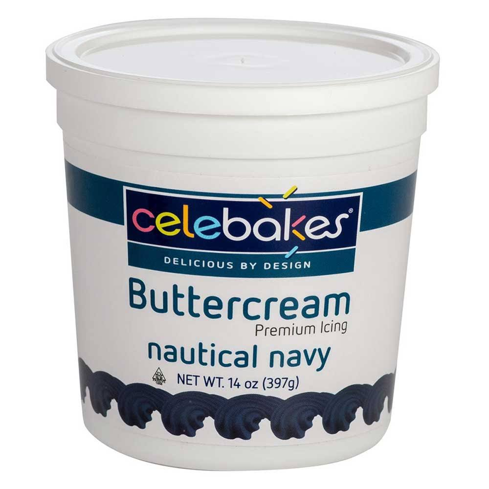 Celebakes by CK Products Navy Buttercream Icing Pho Free 14 Ounce
