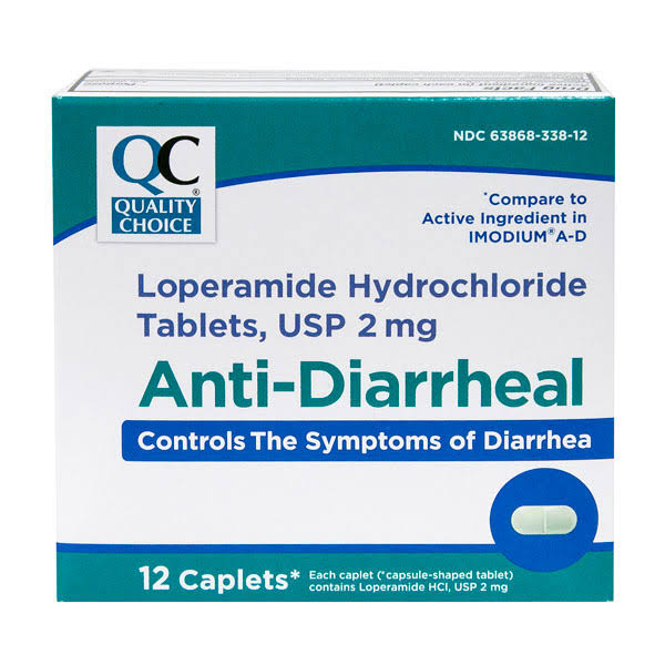 Quality Choice Anti Diarrheal Loperamide - 12 Caplets