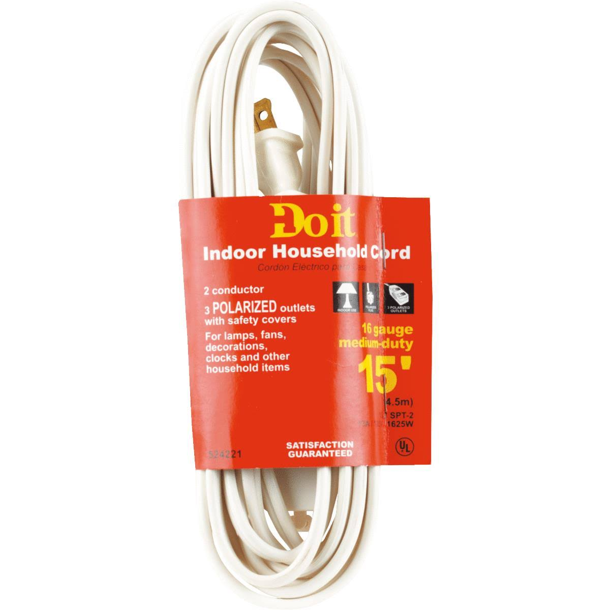 Cube Tap Extension Cord - 15', White