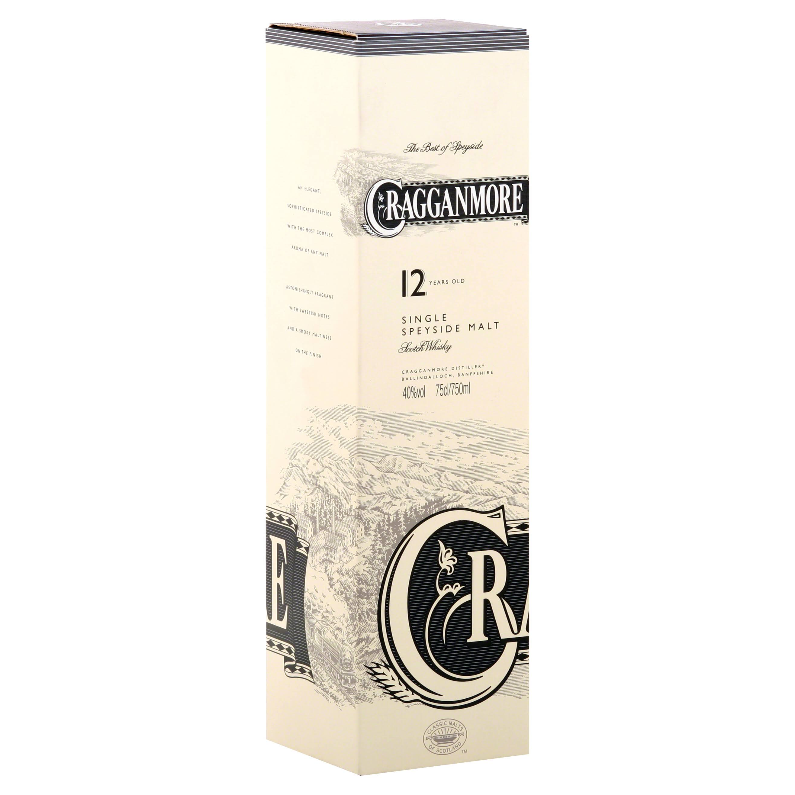 Cragganmore Single Malt 12 Year Scotch Whiskey - 750ml