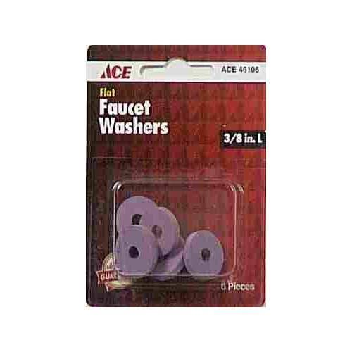 "Ace Flat Faucet Washers, 11/16"" x 3/8"" - 6 pack"