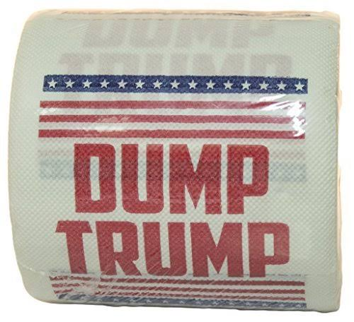 Island Dogs Dump Trump Novelty Toilet Paper - 1 roll
