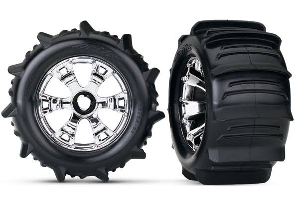 Traxxas Geode Chrome Paddle Tires - 3.8""