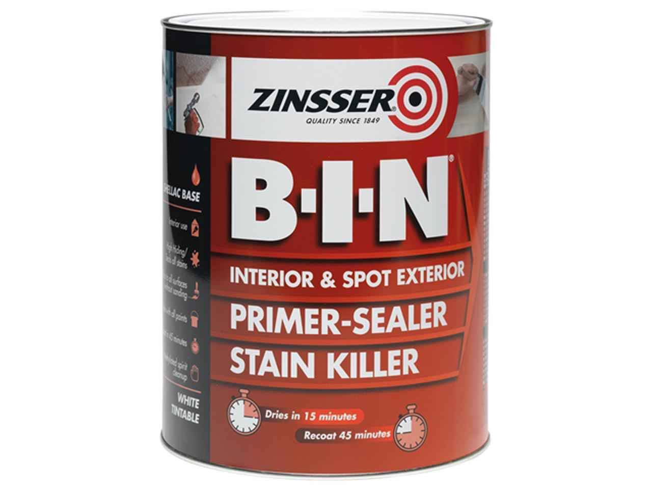 Zinsser Bin Primer Sealer Stain Killer - White, 1l