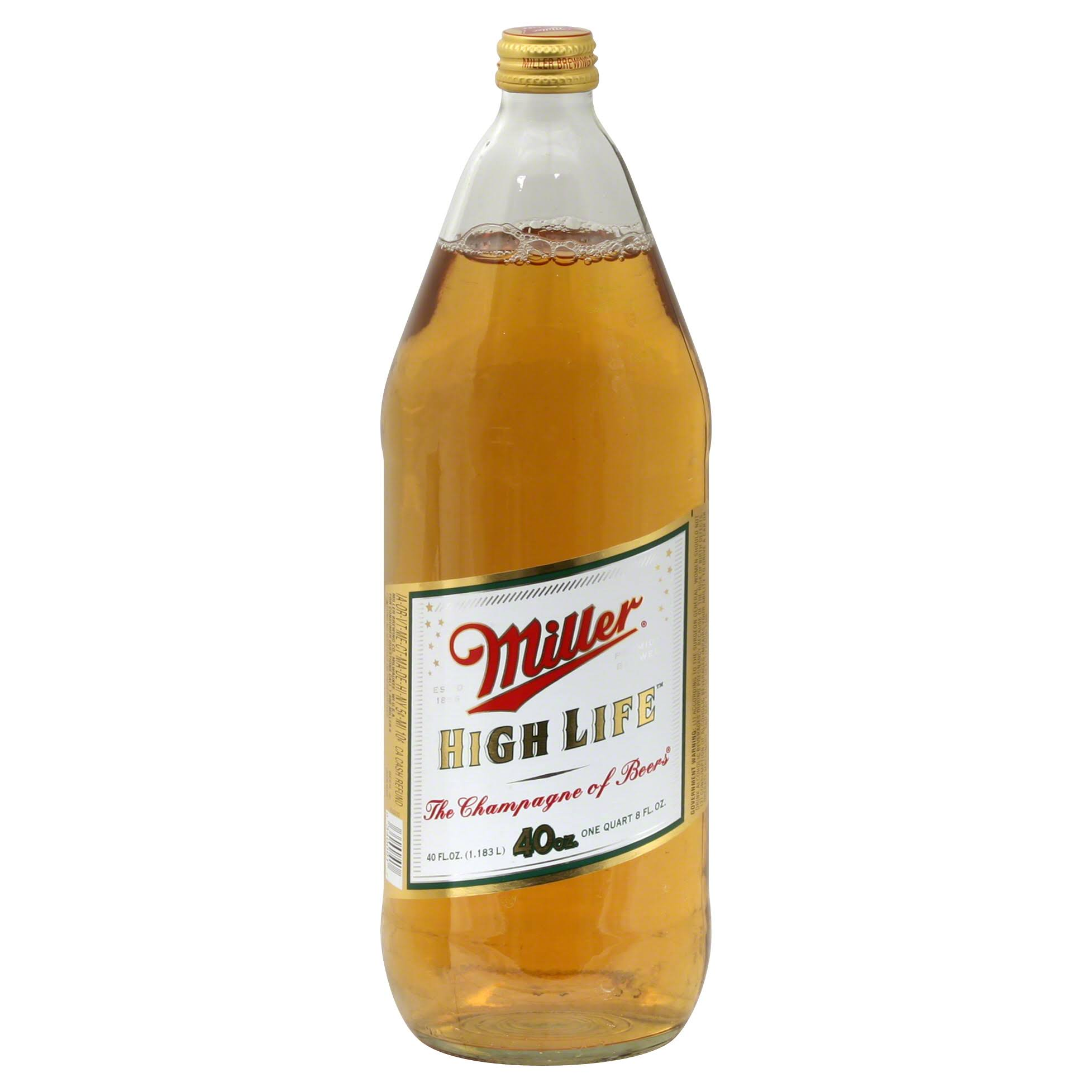 Miller High Life Beer - 40oz