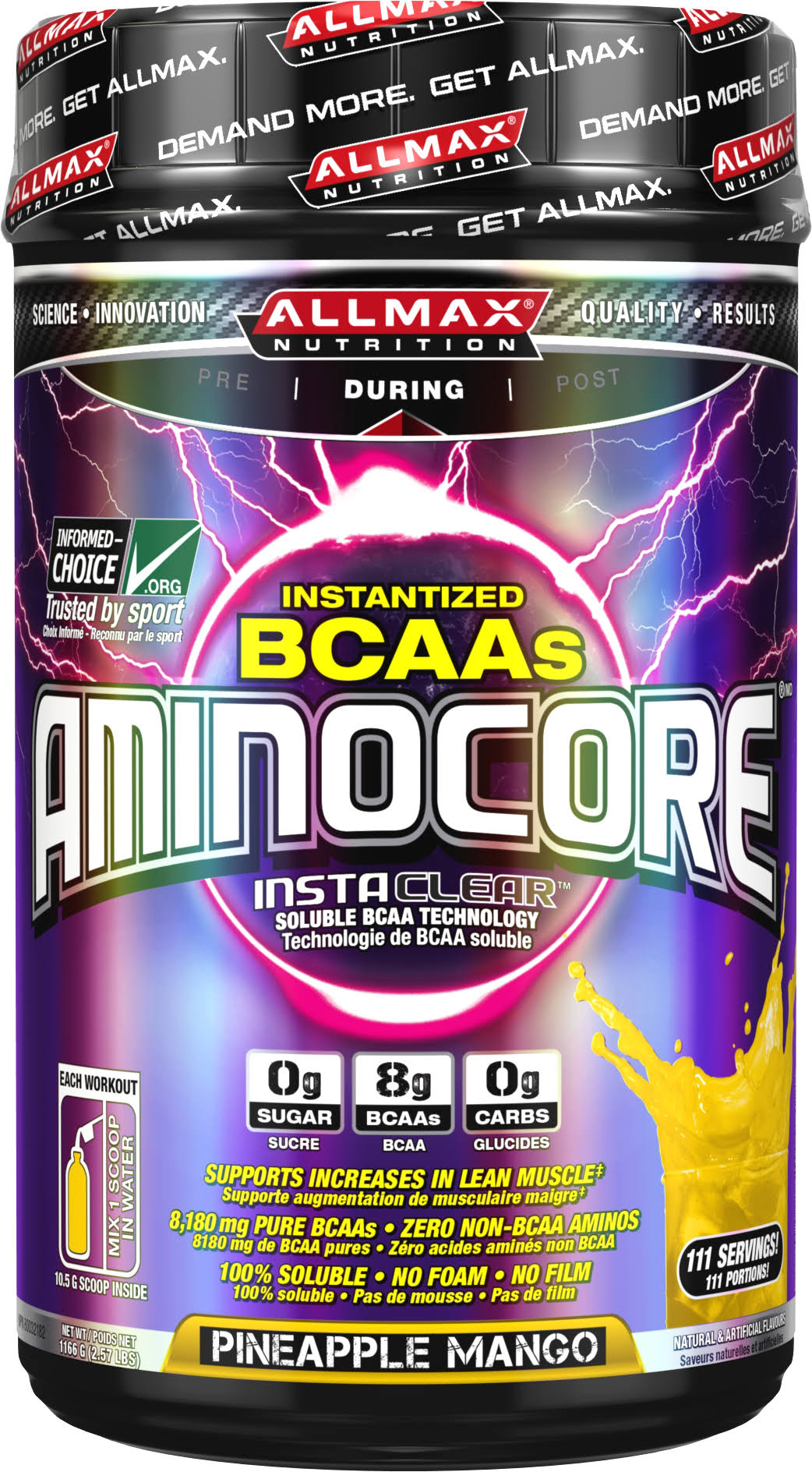 Allmax Nutrition Aminocore Powder Supplement - Caribbean Tropical Fruit, 1000g