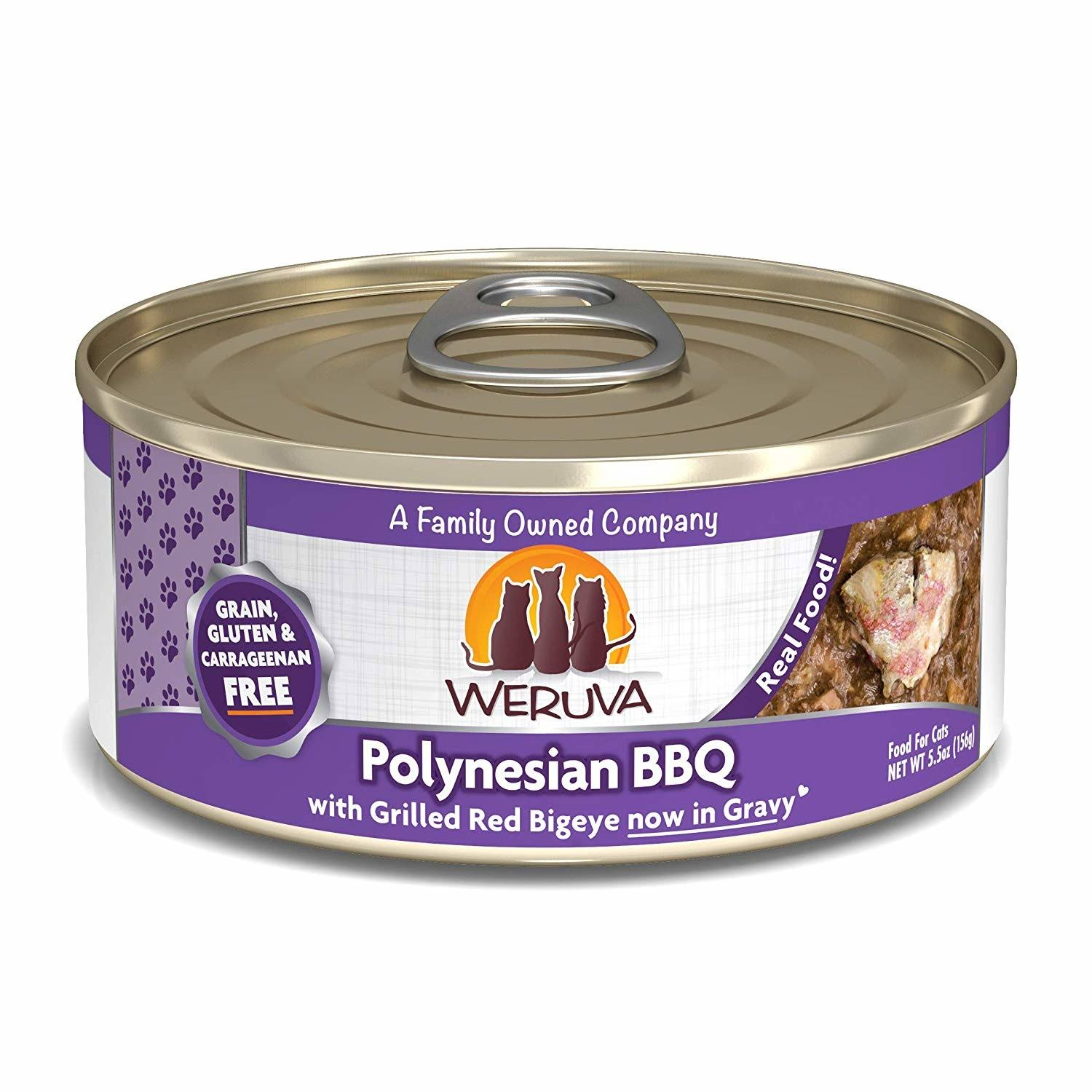 Weruva Canned Cat Food - Polynesian BBQ With Grilled Red Big Eye