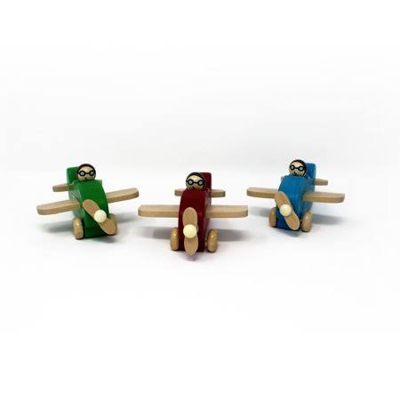 Jack Rabbit Creations Little Wooden Plane - Assorted Colors