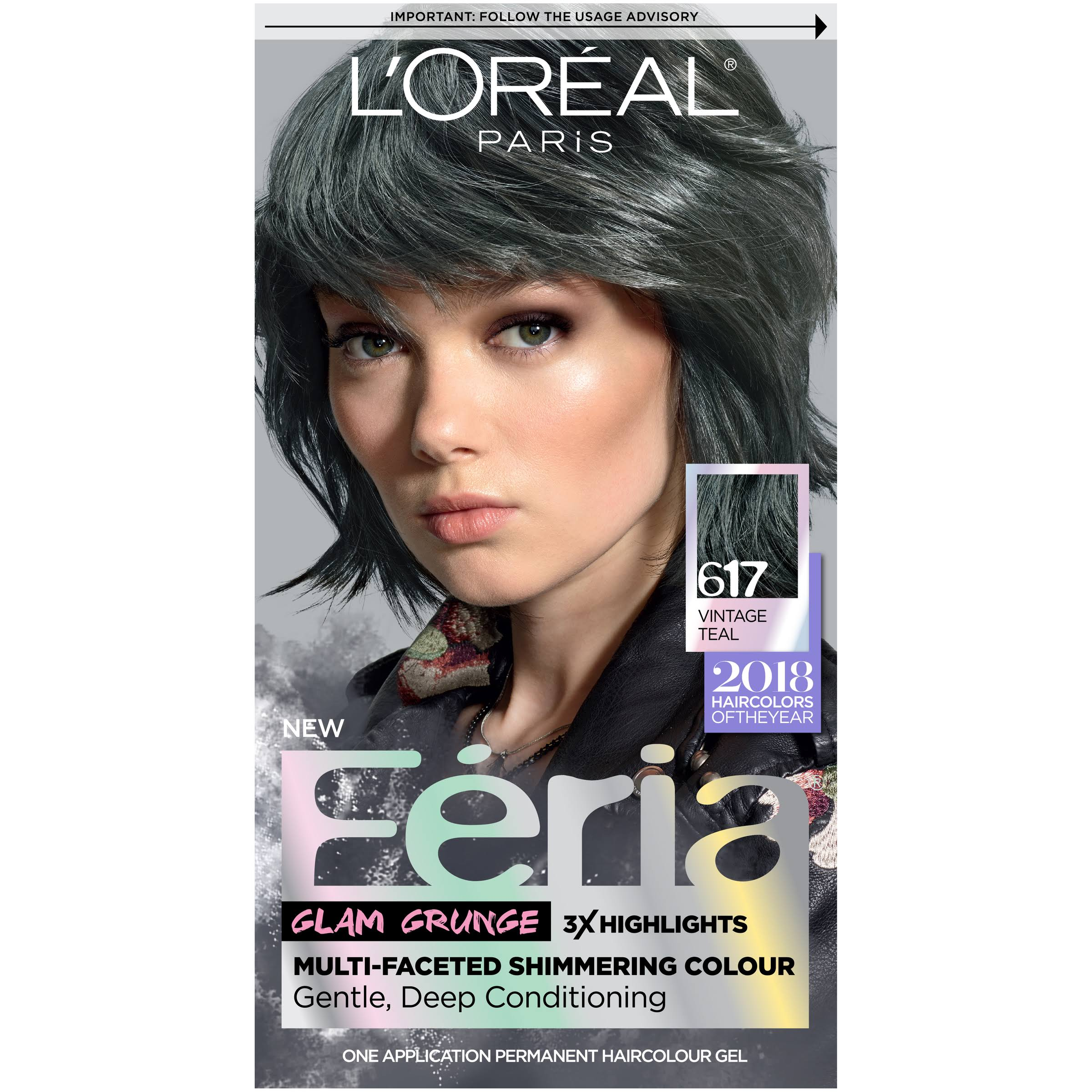 L'Oréal Paris Feria Permanent Hair Color - 617 Vintage Teal