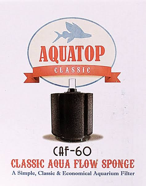 Aquatop Classic Aqua Flow Sponge Aquarium Filter - 60gal