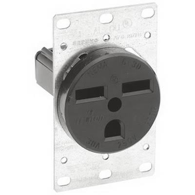 Leviton Manufacturing Receptacle Flush Mount - 30A, 250V