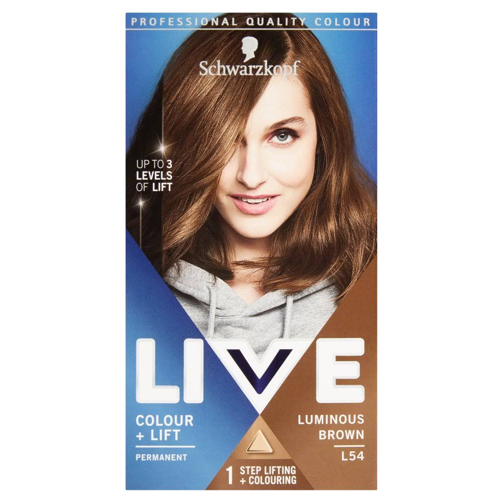 Schwarzkopf Live Intense Colour and Lift Permanent Hair Dye - L54 Luminous Brown