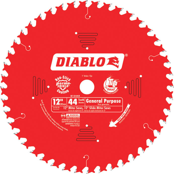 "Freud Diablo Saw Blade - 12"" x 44T"