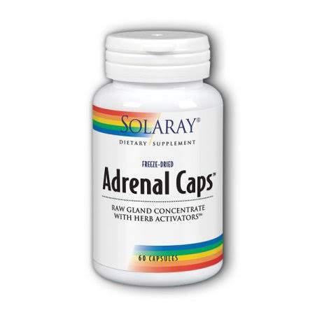 Solaray Adrenal Caps Supplement - 60 Capsules