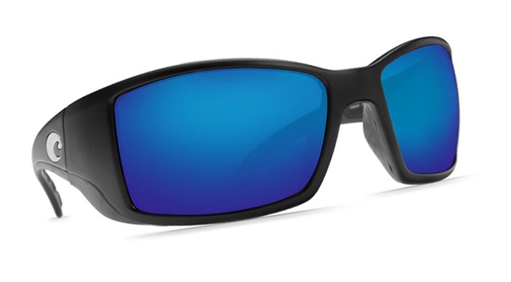 Costa Del Mar Blackfin 580P Sunglasses - Blue Lens, Matte Black
