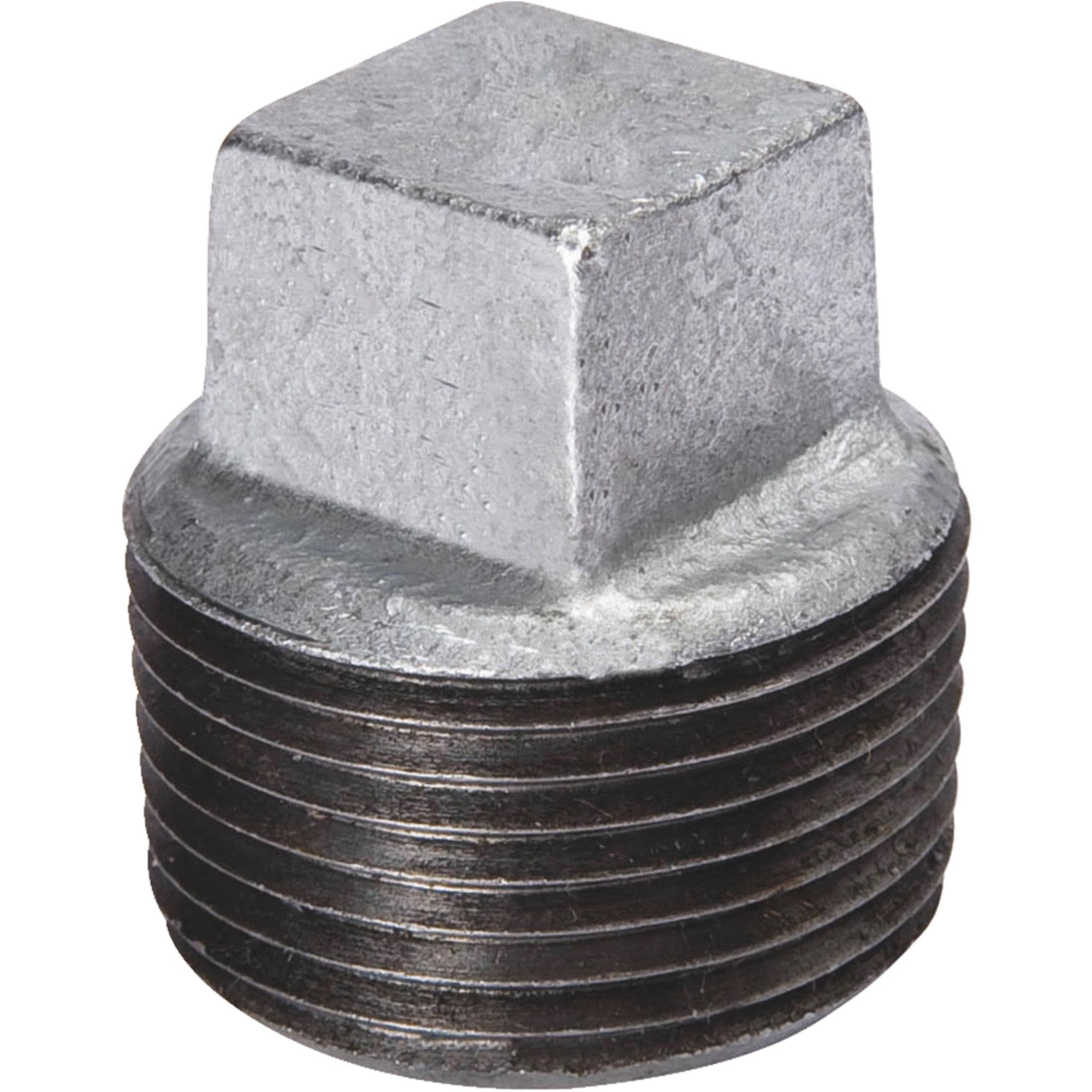"Mueller Global Malleable Iron Plug - 1 1/4"", Galvanized"