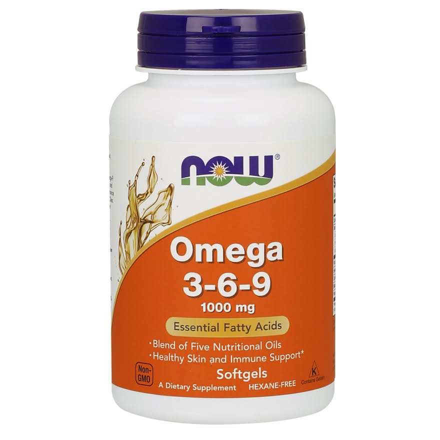 Now Foods Omega 3-6-9 - 1000mg, 100 Softgels