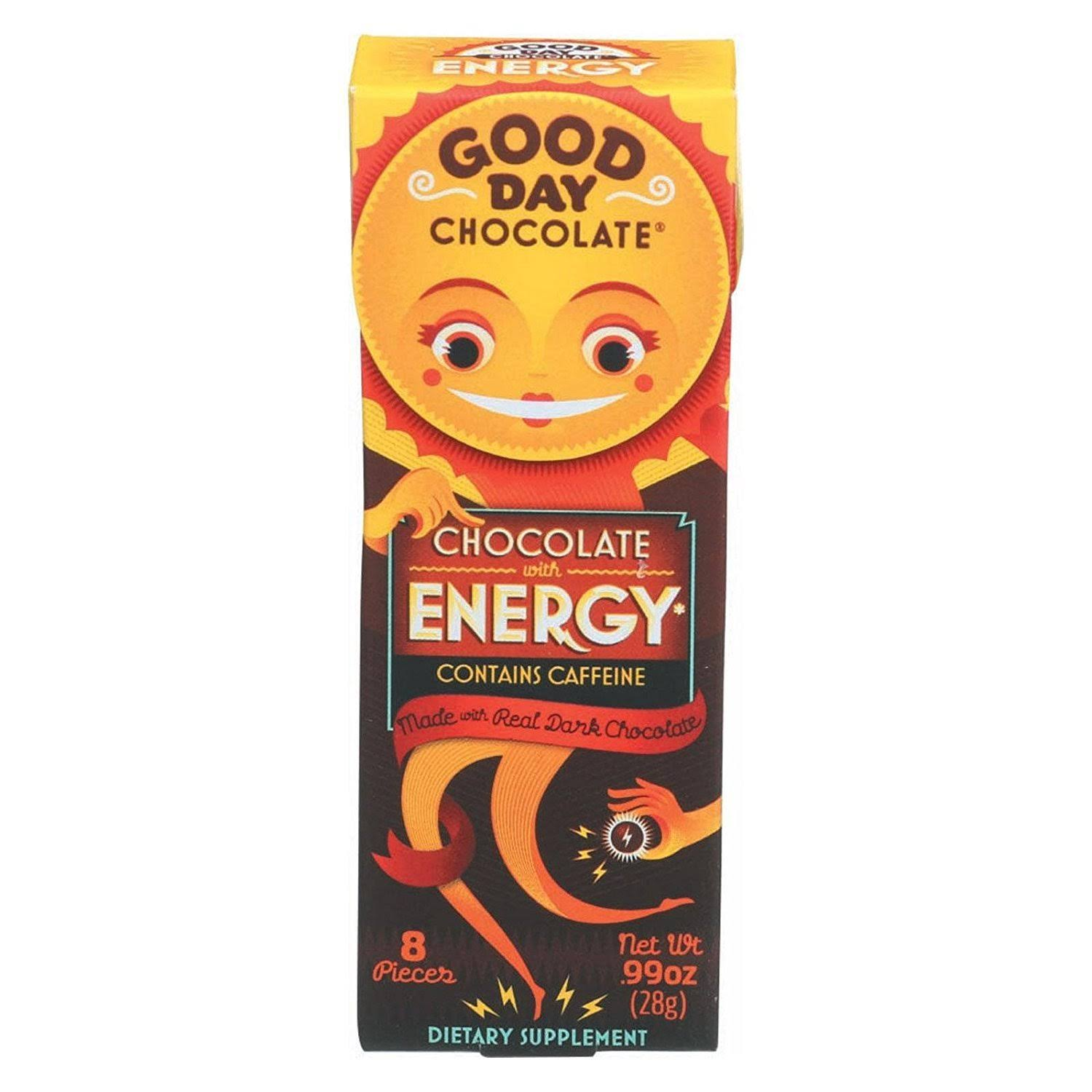 Good Day Chocolate with Energy Dietary Supplement - 0.99 oz box