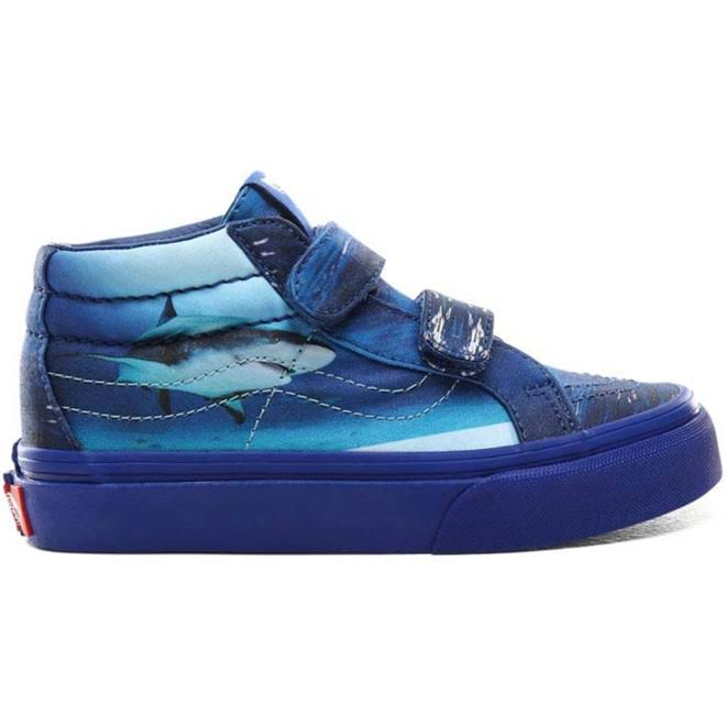 Vans x Shark Week Kids Sk8-Mid Reissue V (Underwater/True Blue)